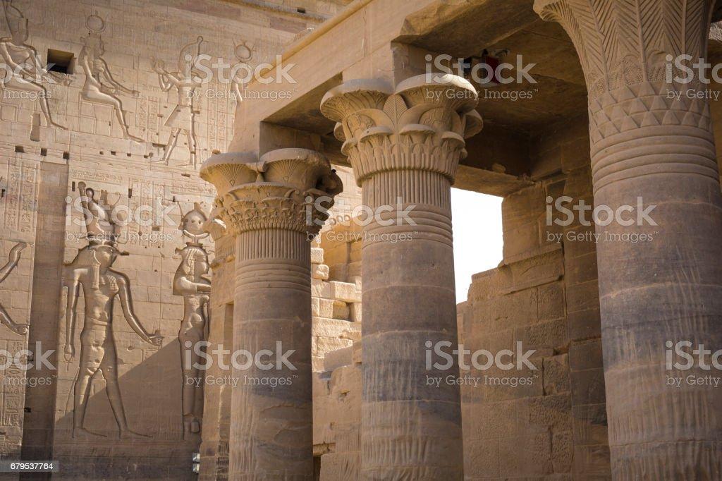 The Philae Temple on Agilkia Island in Lake Nasser near Aswan, Egypt stock photo