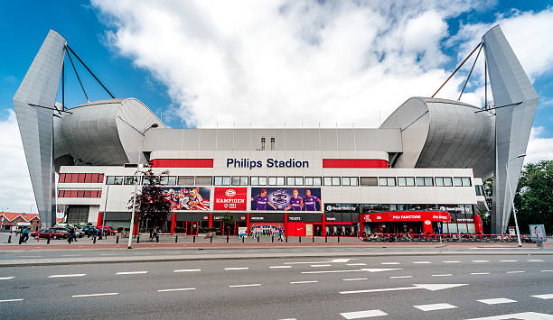 the philips stadion - eindhoven city stockfoto's en -beelden