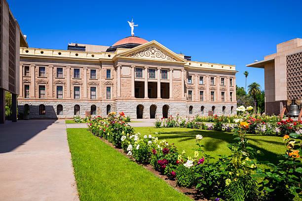 The Phoenix Arizona State Capitol Building stock photo