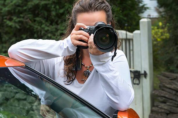The photographer stock photo