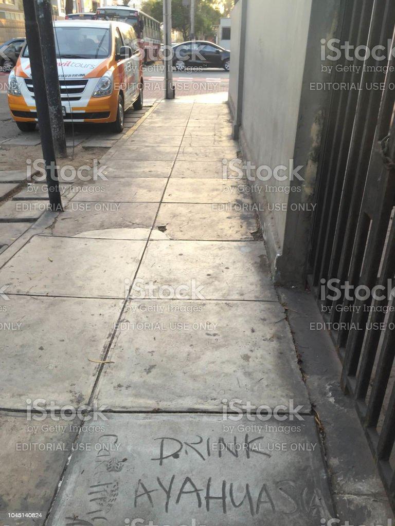 The phrase 'drink ayahuasca' stock photo