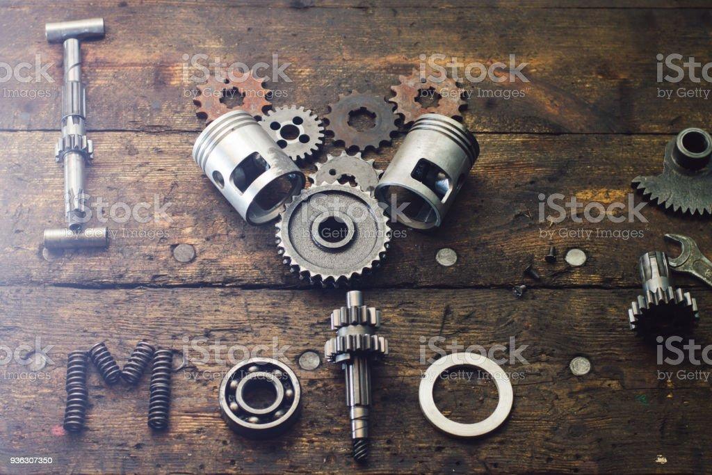 La Frase Me Encanta Moto Construido De Piezas De Repuesto En