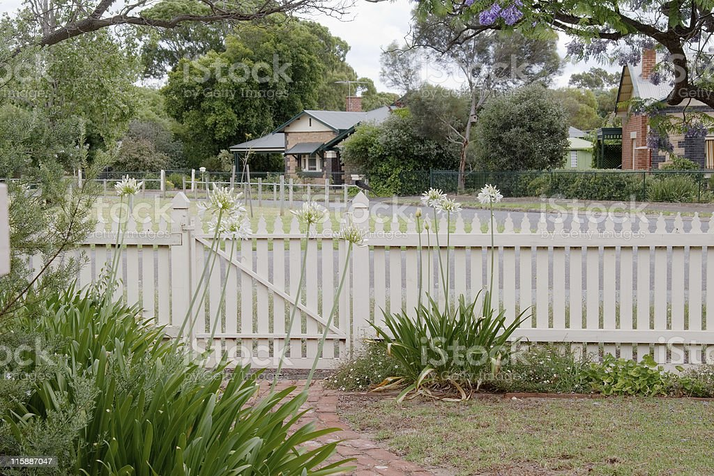 The Picket fence in Spring royalty-free stock photo