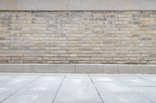 画像は、壁、床の詳細を表示します。 - 歩道 ストックフォトと画像