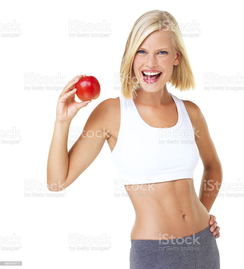 The picture of health stock photo