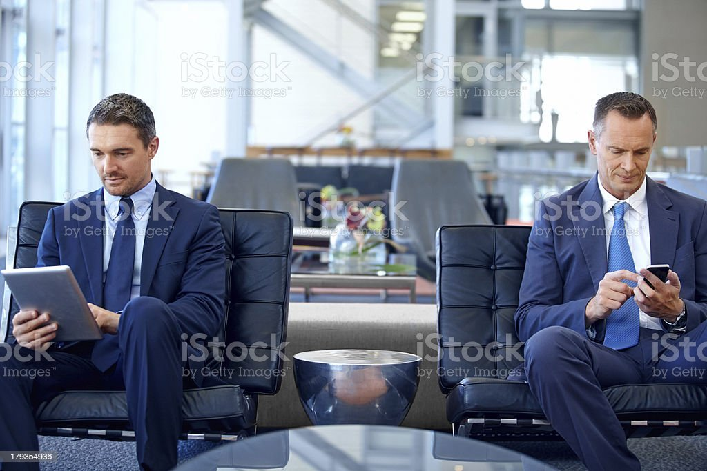 The picture of modern business communication royalty-free stock photo