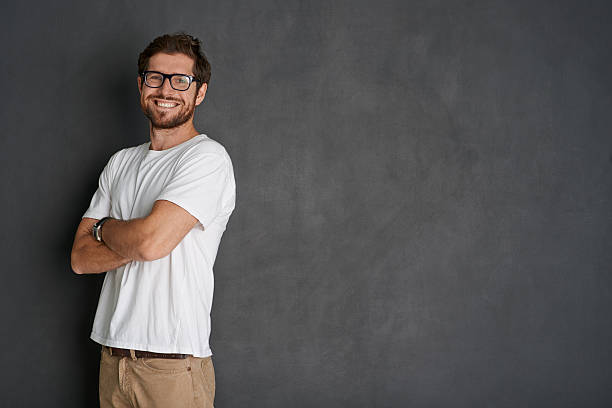 the picture of positivity - one young man only stock photos and pictures
