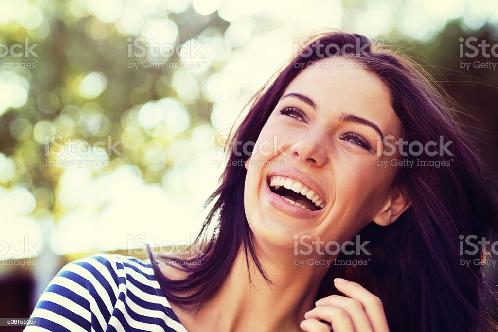 The picture of pure joy stock photo