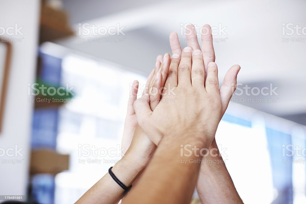 The picture of team success royalty-free stock photo