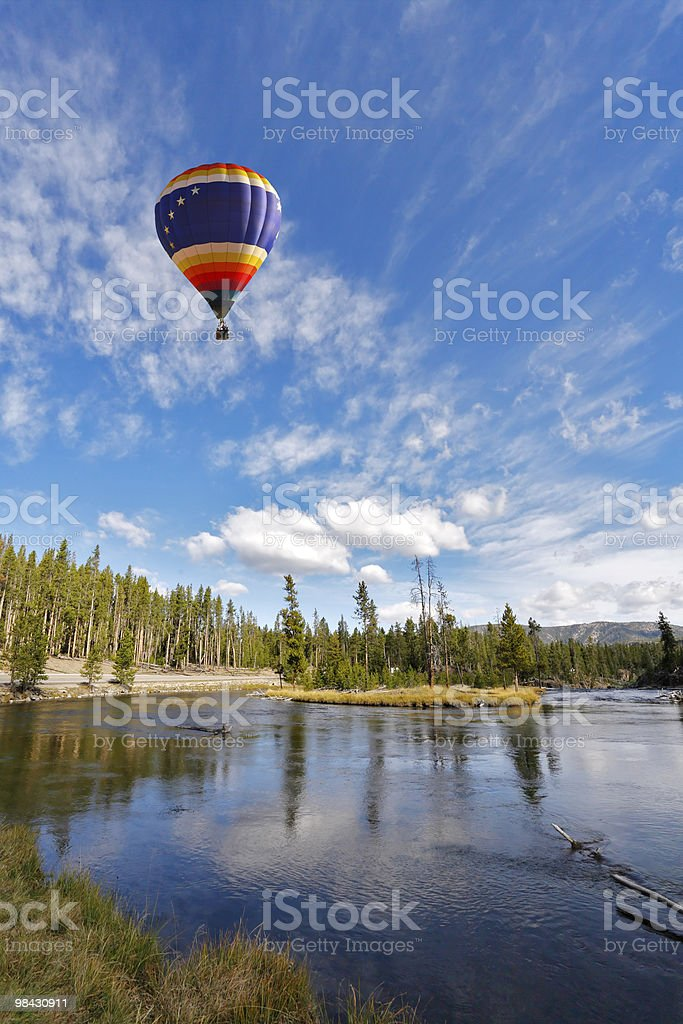 The picturesque balloon flies royalty-free stock photo