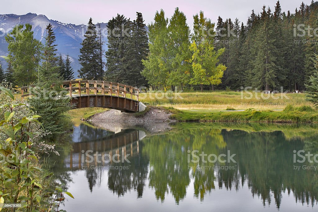 The picturesque bridge. royalty-free stock photo