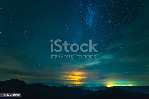 653506436 istock photo The picturesque clouds above mountains. evening night time 1047735238
