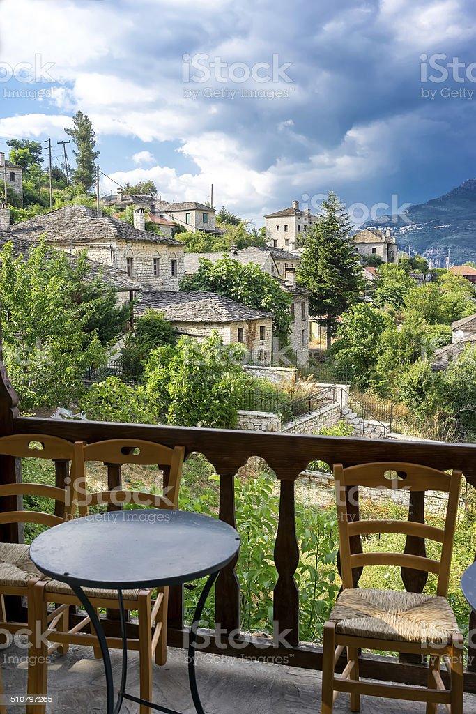 The picturesque village of Aristi in Zagori area, northern Greec stock photo