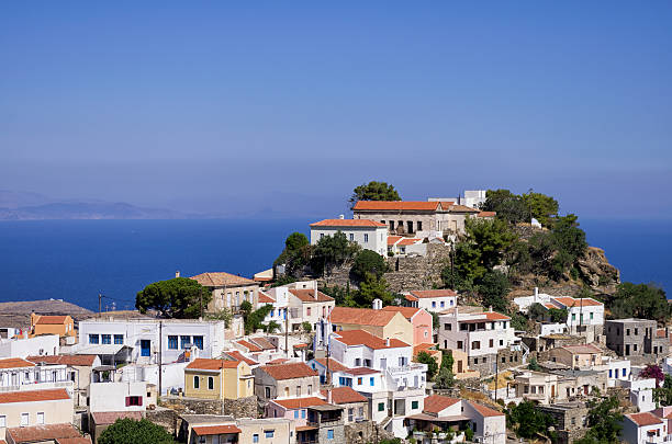 The picturesque village of Kea island, Cyclades, Greece stock photo