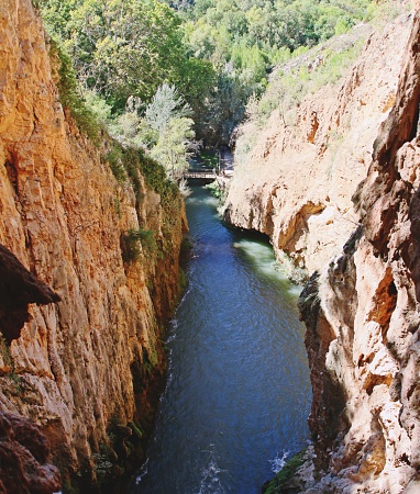 The Piedra river after the Cola de Caballo waterfall.