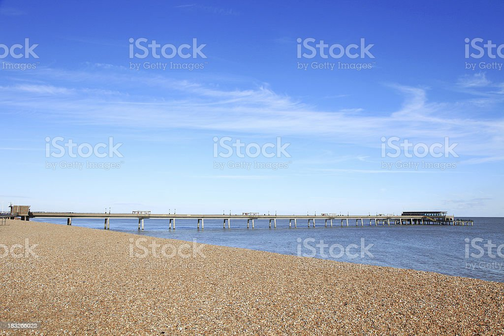 The pier and beach at Deal, Kent, UK stock photo