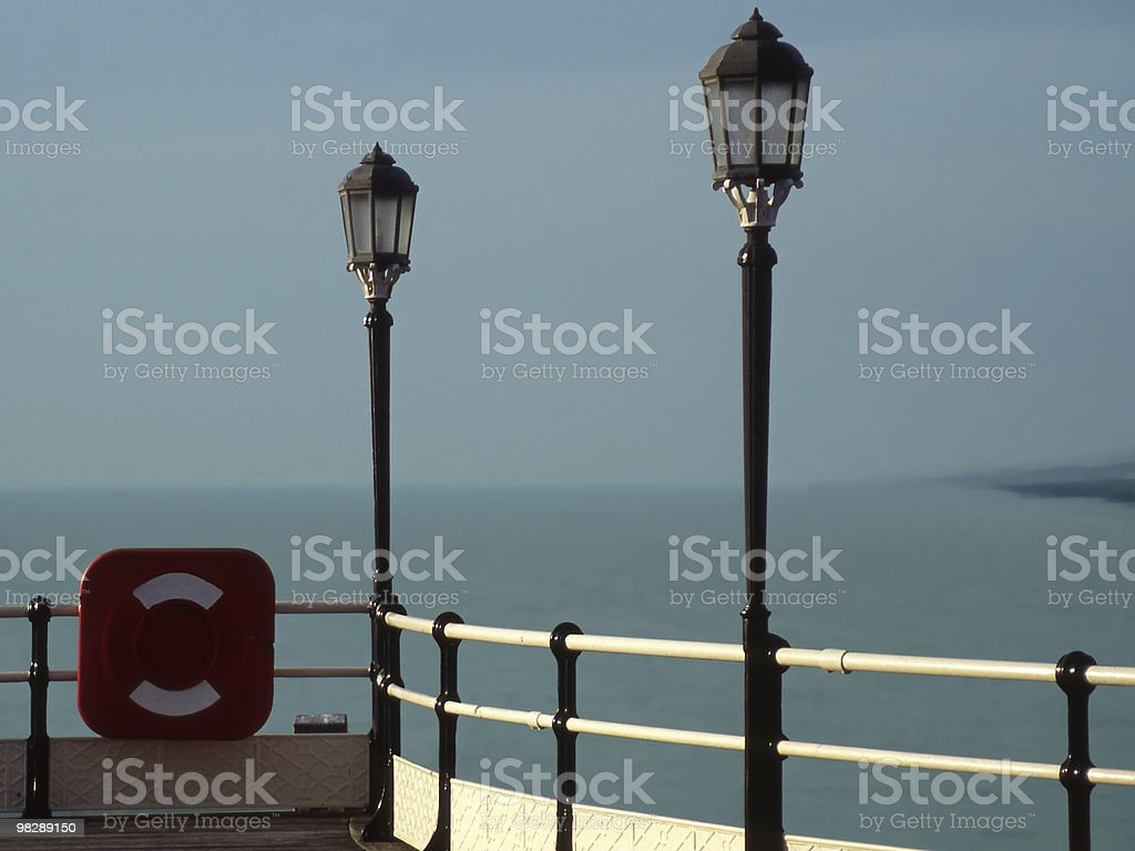 The Pier at Worthing, West Sussex, England royalty-free stock photo