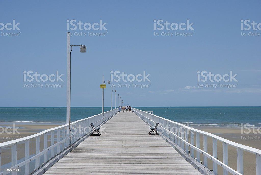 The Pier in Hervey Bay, Queensland, Australia stock photo