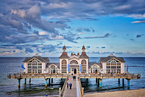 The Pier of Sellin on Rügen Island, Mecklenburg-Vorpommern ,Mecklenburg Coast, Baltic Sea, Germany