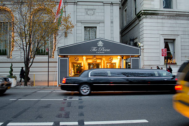 the pierre, a taj hotel, upper east side, manhattan - limousine service stock photos and pictures