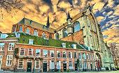 istock The Pieterskerk, a late-Gothic church in Leiden 1144287786