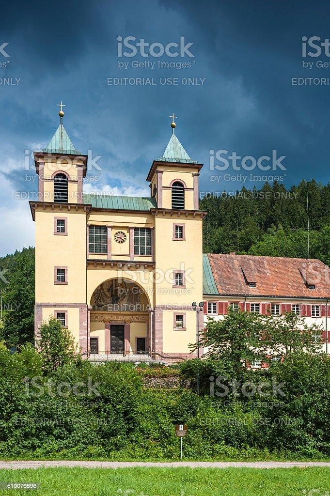 The pilgrimage church Mater Dolorosa in Bad Rippoldsau-Schapbach stock photo