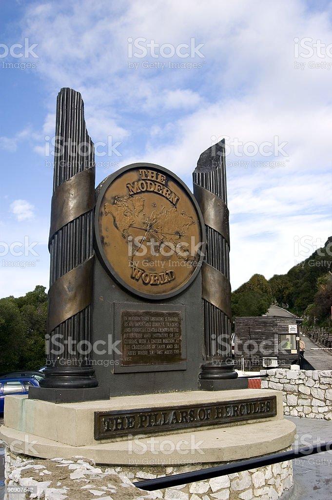 The Pillars of Hercules Monument royalty-free stock photo