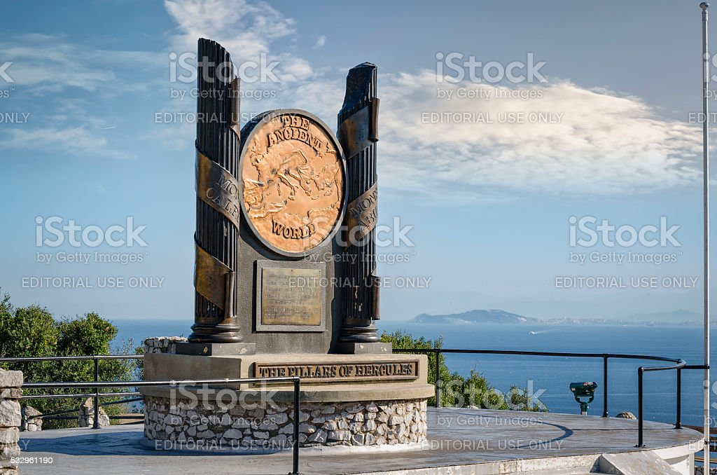 The Pillars of Hercules stock photo