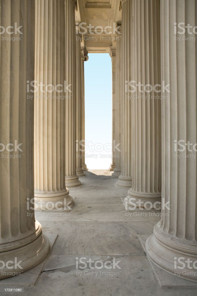 The Pillars of Justice royalty-free stock photo