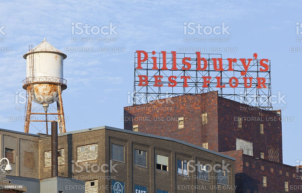 The Pillsbury plant in Minneapolis Minneapolis, USA- August 4, 2011: The Pillsbury plant in Minneapolis- once it was the worldaas most advanced flour mill aa  now it sits abandoned in Riverfront District of Minneapolis Building Exterior Stock Photo