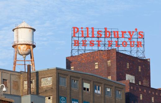 The Pillsbury Plant In Minneapolis Stock Photo - Download Image Now