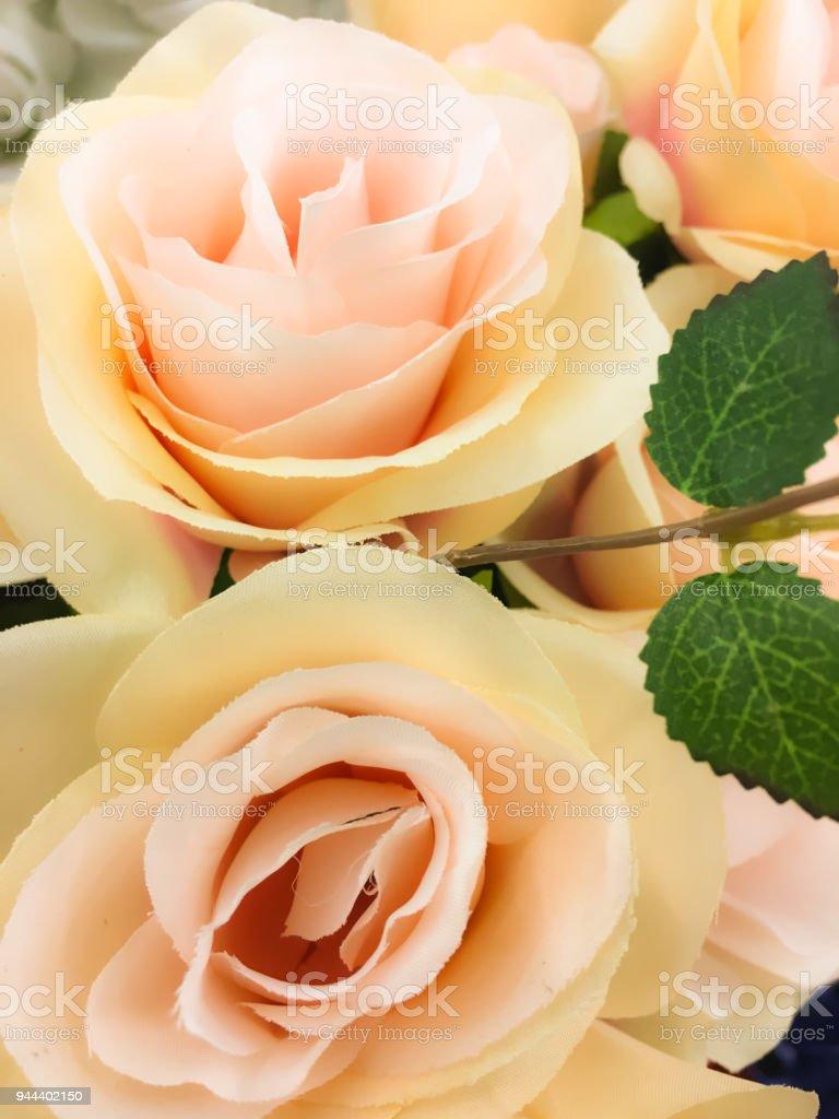 The pink and peach silk flowers stock photo more pictures of the pink and peach silk flowers royalty free stock photo mightylinksfo