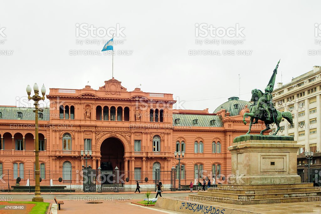 The Pink House, Buenos Aires stock photo