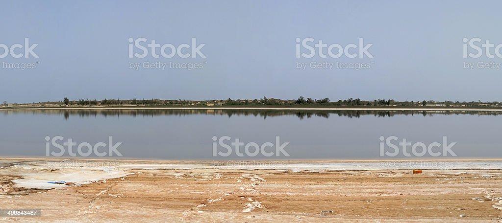 The Pink Lake in Senegal (XXL) royalty-free stock photo