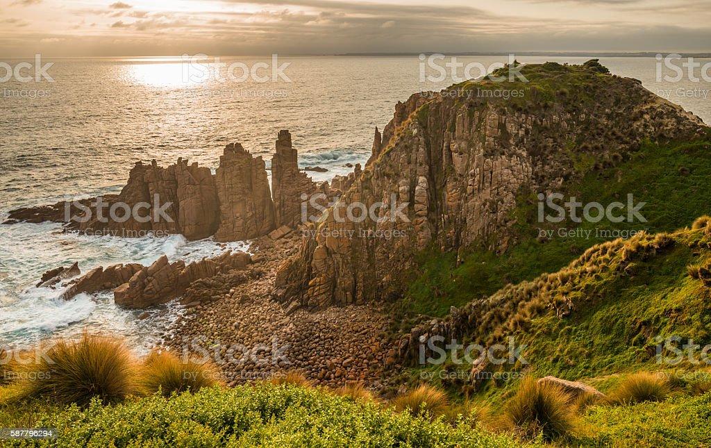 The Pinnacles and Cape Woolamai, Philip island, Australia. stock photo