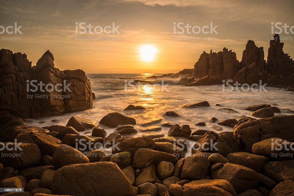 The Pinnacles at Phillip Island, Melbourne, Australia. stock photo