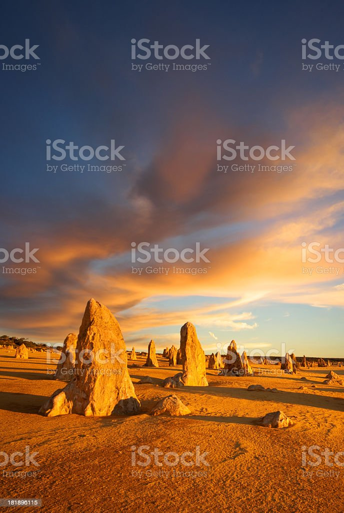 The pinnacles of western Australia the outback stock photo