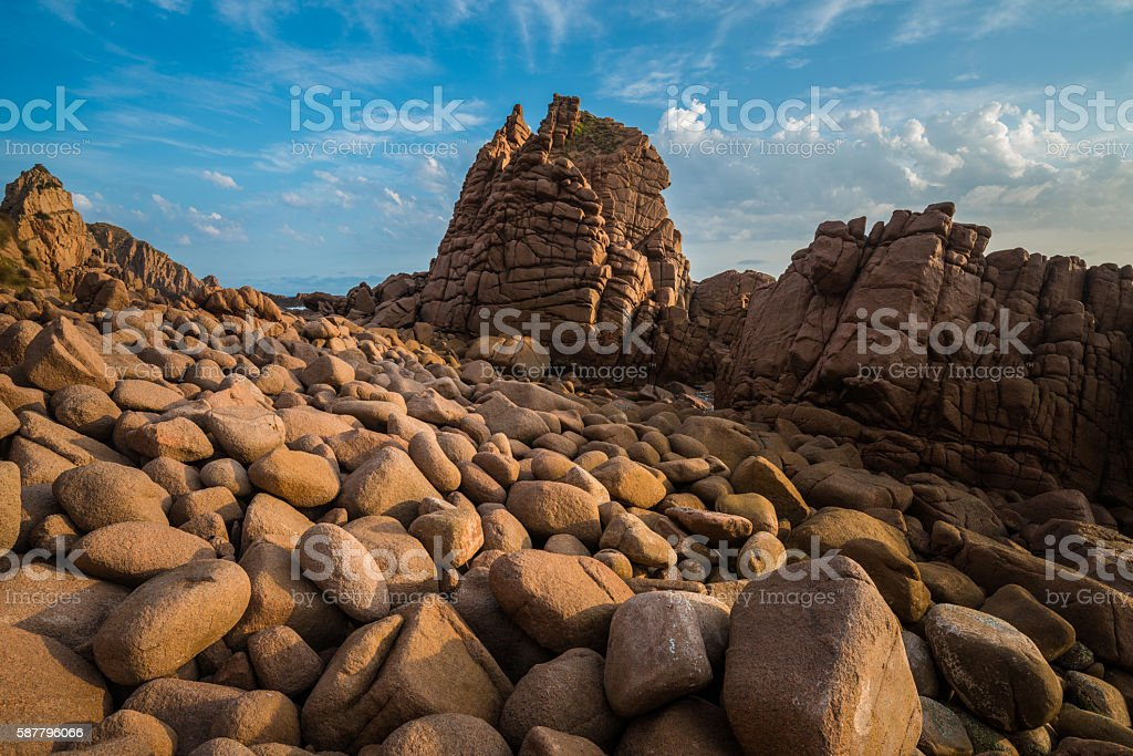 The Pinnacles rock of Phillip island. stock photo