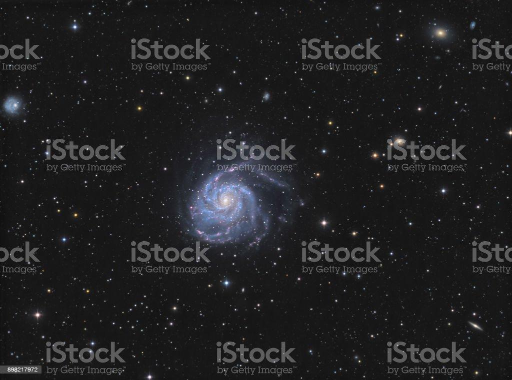 Die Windrad-Galaxie (Messier 101) im Sternbild Ursa Major – Foto