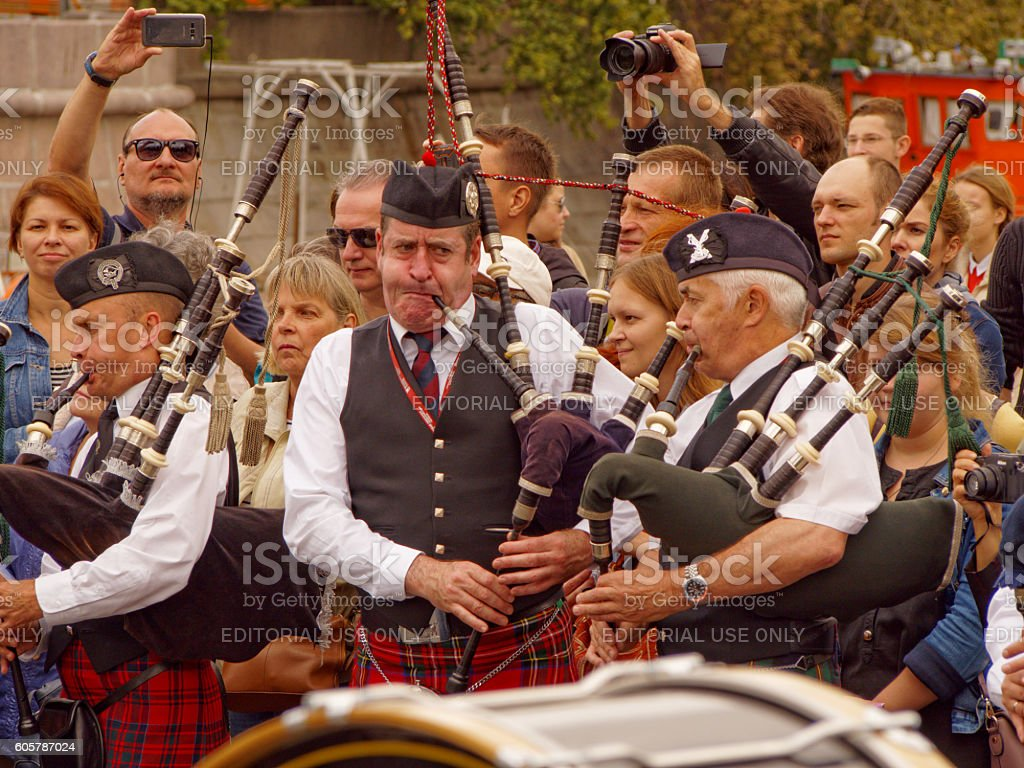 The Pipers stock photo