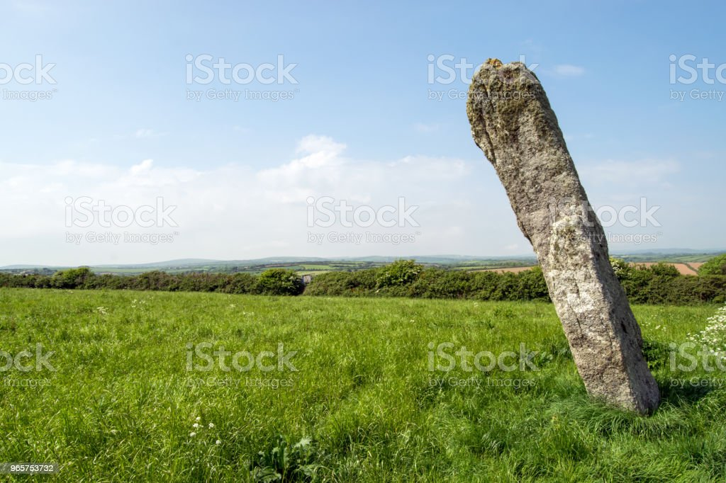 De Pipers staande stenen, Cornwall - Royalty-free Archeologie Stockfoto