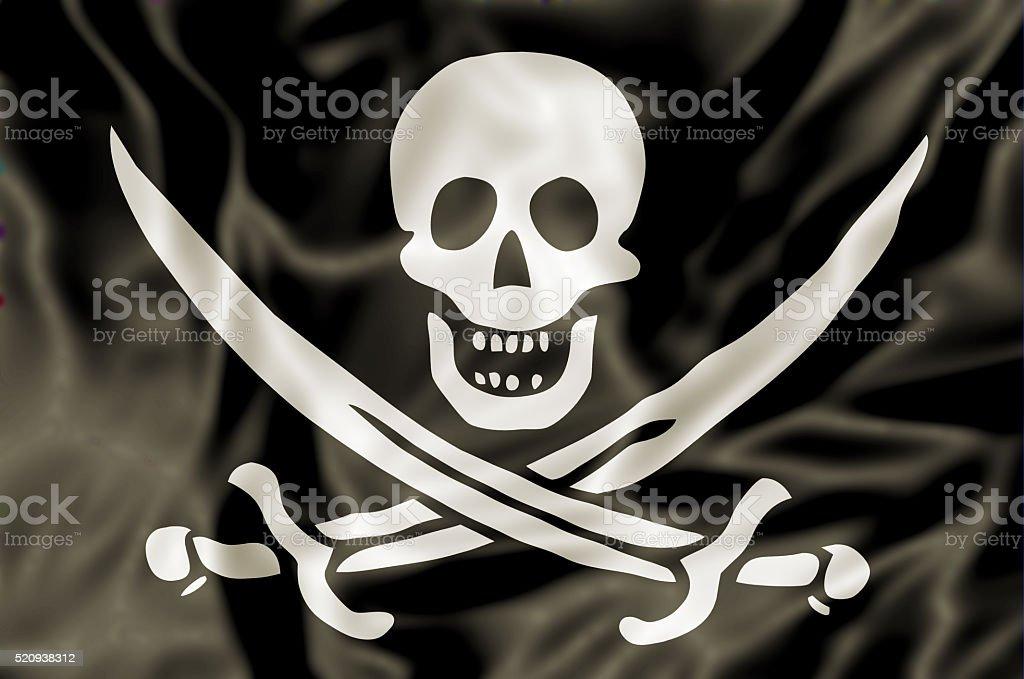 La bandera pirata - foto de stock