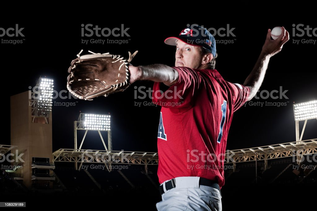 The Pitcher royalty-free stock photo