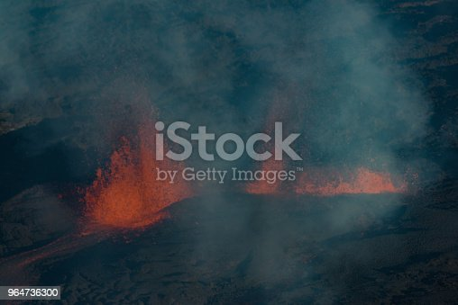 The Piton De La Fournaise Volcano During An Eruption In Reunion Island Stock Photo & More Pictures of Accidents and Disasters