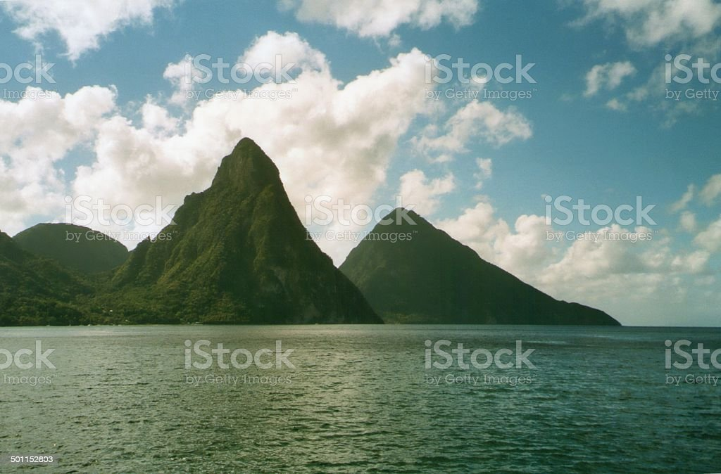 The Pitons of Saint Lucia, Windward Islands stock photo