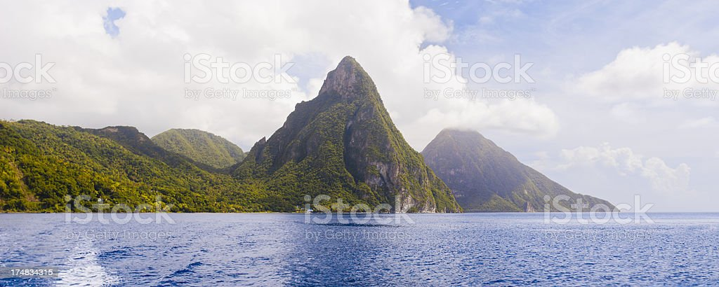 The Pitons - St Lucia stock photo