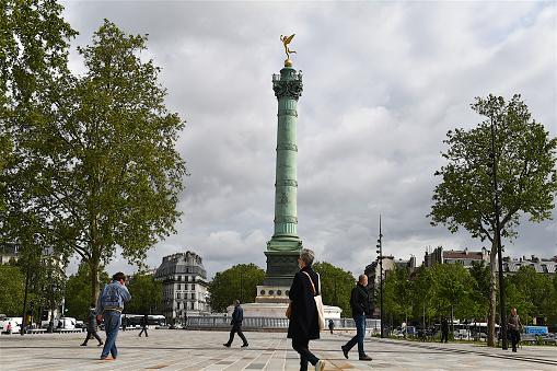 The Place de la Bastille, Paris, France.