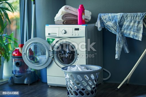Shot of a washing machine at home