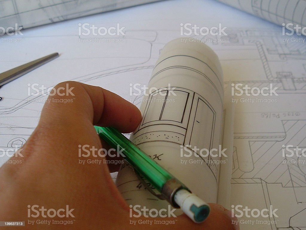 The plan is ready royalty-free stock photo