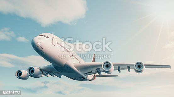 istock The plane fly in the sky. 897326772